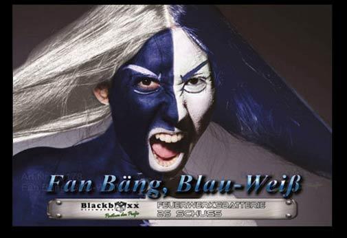 Fan B�ng Blau-Wei�