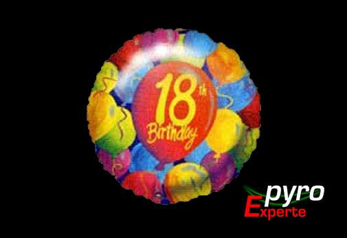 Folienballon 18 Jahre