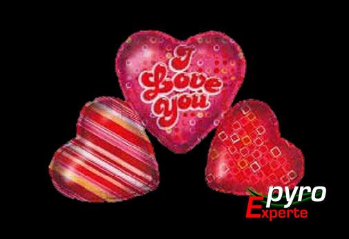 Folienballon - Drei Herzen