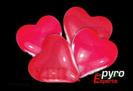 Luftballons Herzform 4er