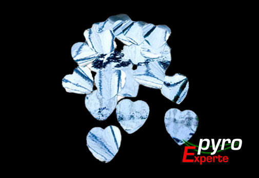 Metallic Flitter Herzen silber 1kg