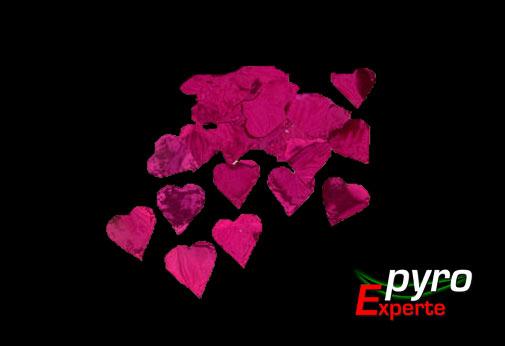 Metallic Flitter rote Herzen 1kg