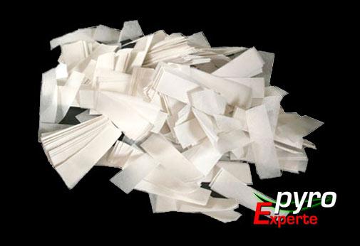 Papier Flitter wei� 1kg