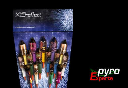 X15 Effektraketen